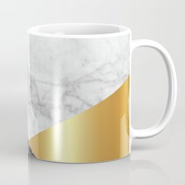 White Marble - Black Granite & Gold #944 Coffee Mug