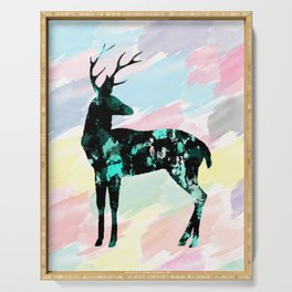 Abstract Deer Serving Tray