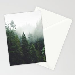 372. Cloudy Capilano forest, Vancouver, Canada Stationery Cards