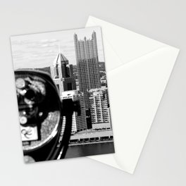 Viewing Pittsburgh Through the Looking Glass Stationery Cards