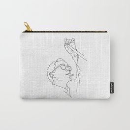 Jean-Luc Godard minimal line drawing Carry-All Pouch