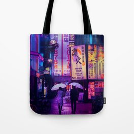 Tokyo Nights / Valentines Day / Liam Wong Tote Bag