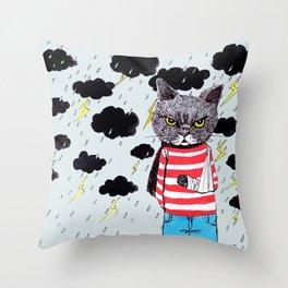 When It Rains, It Pours... Throw Pillow