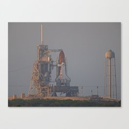 "Space Shuttle ""Discovery"" sits on Pad 39B just prior to launch on STS-119 Canvas Print"
