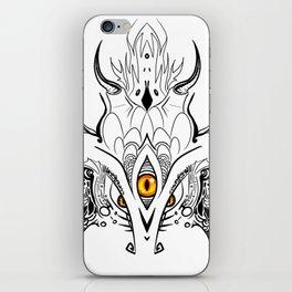 Menacing Zen Doodle Dragon iPhone Skin