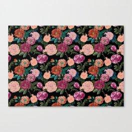 Moody Rose Garden Canvas Print