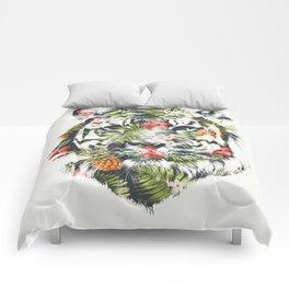 Tropical tiger Comforters