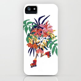 Floral Roller Babe iPhone Case