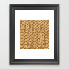 Tan/Orange Pattern Framed Art Print
