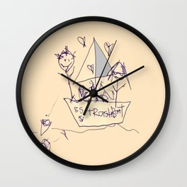 S.S. Trash Boat Wall Clock