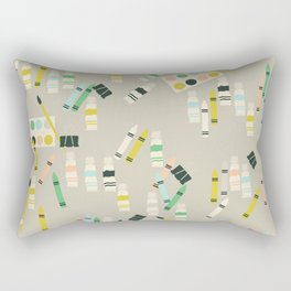 Cute Crayons, Paint Brush, Paint Tubes and Watercolor Boxes Rectangular Pillow