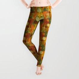 Boho Floral Pattern Leggings