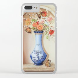 Blue Willow Niche Clear iPhone Case
