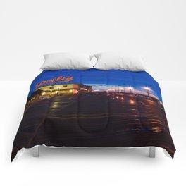 Early Morning at Dolles Coastal Landscape Photograph - Boardwalk Artwork Comforters