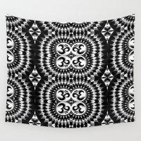om Wall Tapestries featuring Om by MandalaHealingArt
