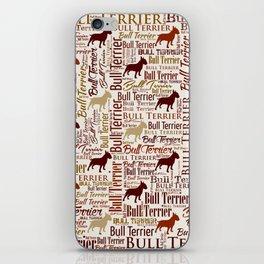 Bull Terrier Dog Word Art pattern iPhone Skin