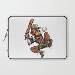 Baseball Monkey - Teak Laptop Sleeve