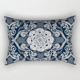 Centered Lace - Dark Rectangular Pillow