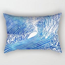 Blue Wave II Rectangular Pillow