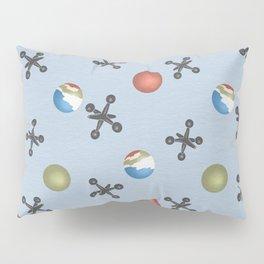 jacks and balls pattern blue Pillow Sham