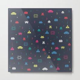 Space invader Metal Print