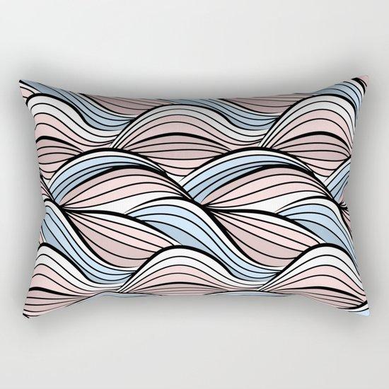 Thread pink blue Rectangular Pillow