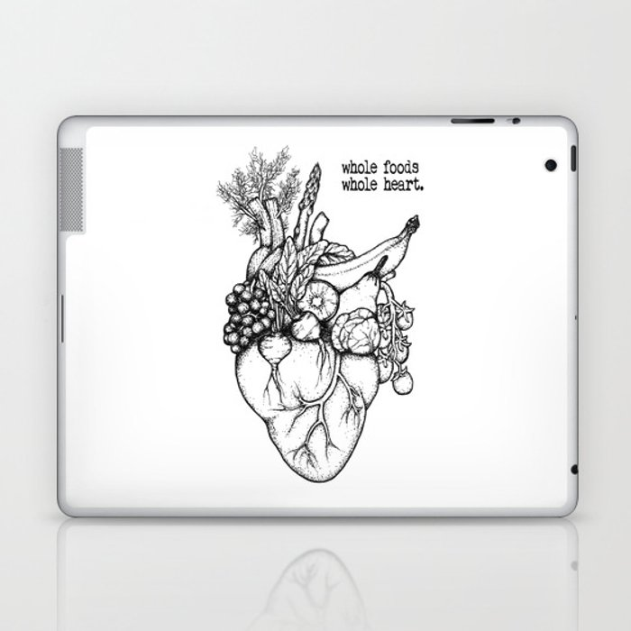 Whole foods, whole heart Laptop & iPad Skin