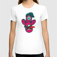 cyclops T-shirts featuring Frightened Cyclops by Artistic Dyslexia