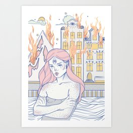 Break Up During the Day Art Print