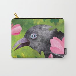 Jackdaw in green Carry-All Pouch