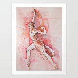 Float, watercolor & pastel Art Print