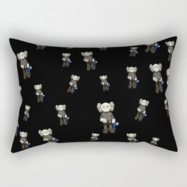 Watercolor Kaws with cookie monster Rectangular Pillow