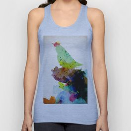 Bird standing on a tree Unisex Tank Top