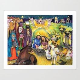 Peace on Earth Nativity Art Print