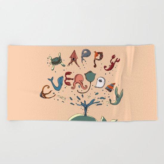Happy Everyday Beach Towel