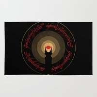 the lord of the rings Area & Throw Rugs featuring The Lord of the Rings by Ian Wilding