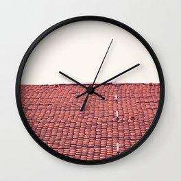 pink sky Wall Clock