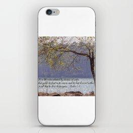 Psalm 1:3 iPhone Skin