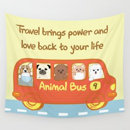Animal bus no.9 Wall Tapestry