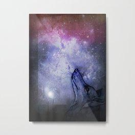 Star Wolf Metal Print