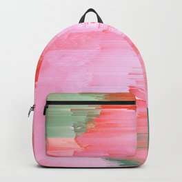 Romance Glitch - Pink & Living coral Backpack