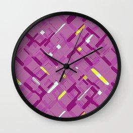 Urban purple Wall Clock