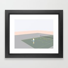 TENNISSPILLERE Framed Art Print
