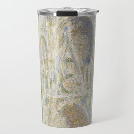 Claude Monet Rouen Cathedral, West Façade, Sunlight 1894 Travel Mug