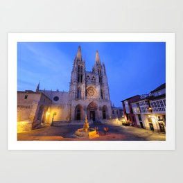 Burgos cathedral, Spain. Art Print