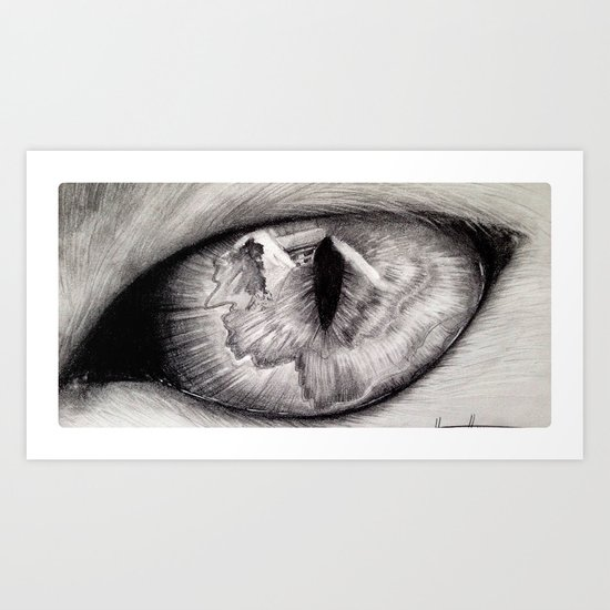Dark Cats Eye Art Print