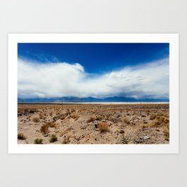 The Calm in Death Valley Art Print