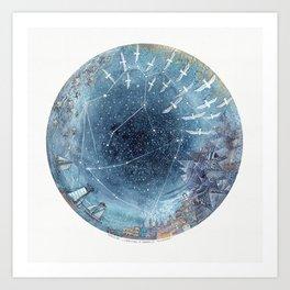 Capricorn & Aquarius friendship Art Print