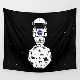 rolling in space Wall Tapestry