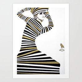 LA SFINGE CAMBIA LOOK Art Print